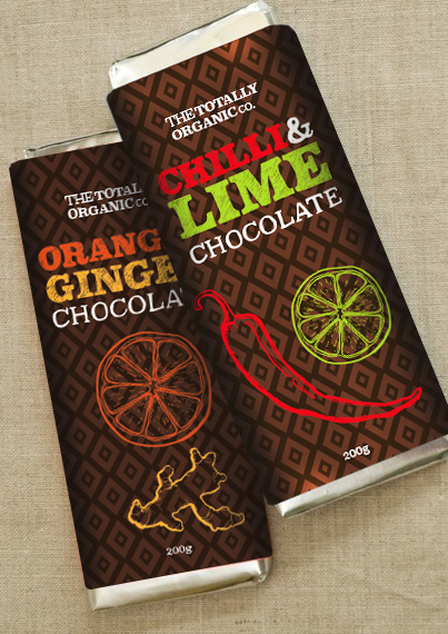 illustrated chocolate wrapper