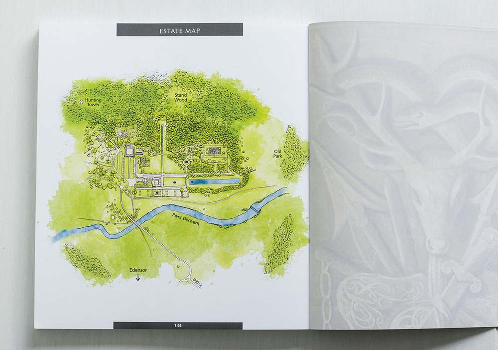 chatsworth house illustrated map