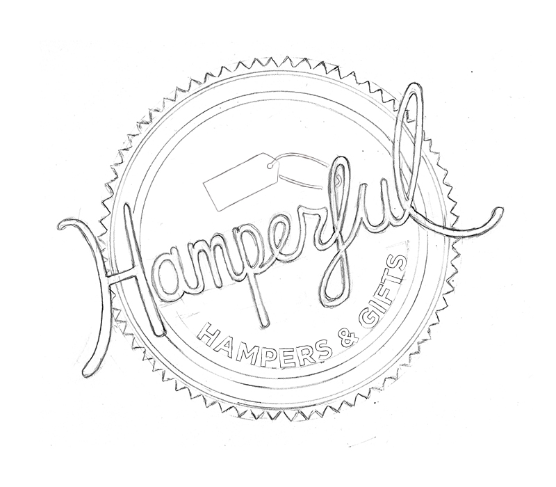 hand lettering logo rough