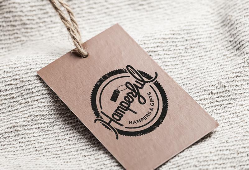 hamperful label design