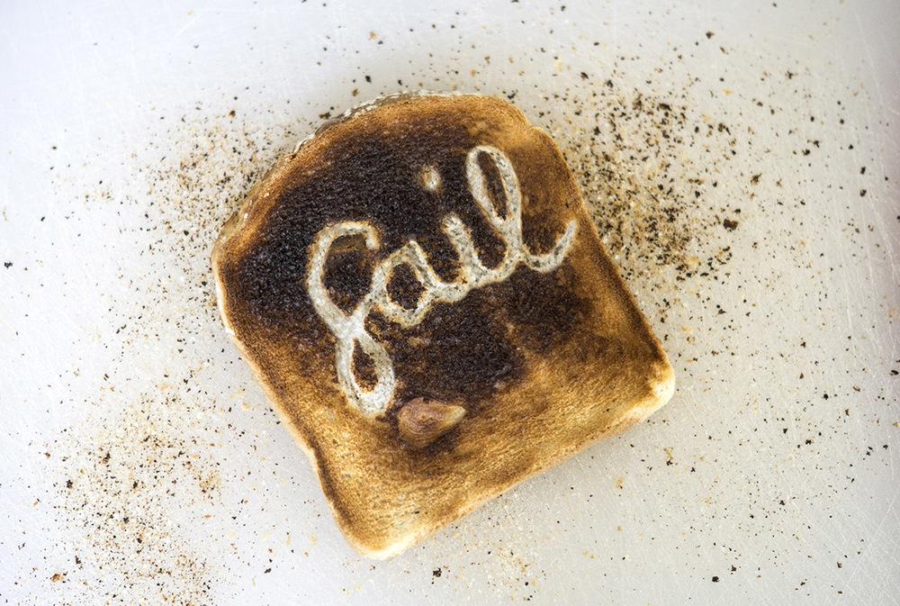 fail toast lettering