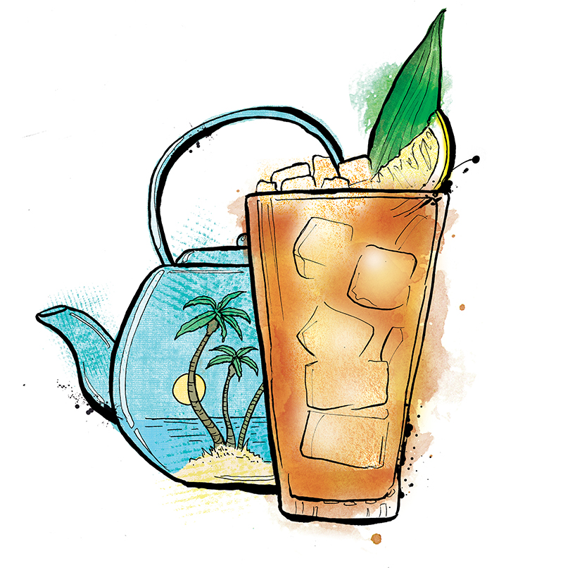 illustrated Caribbean Iced Tea