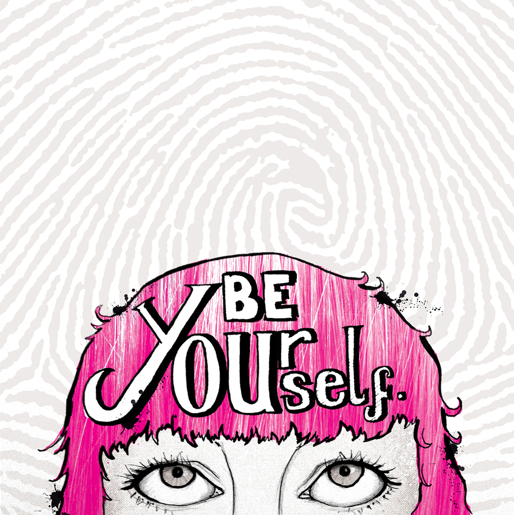 be yourself lettering