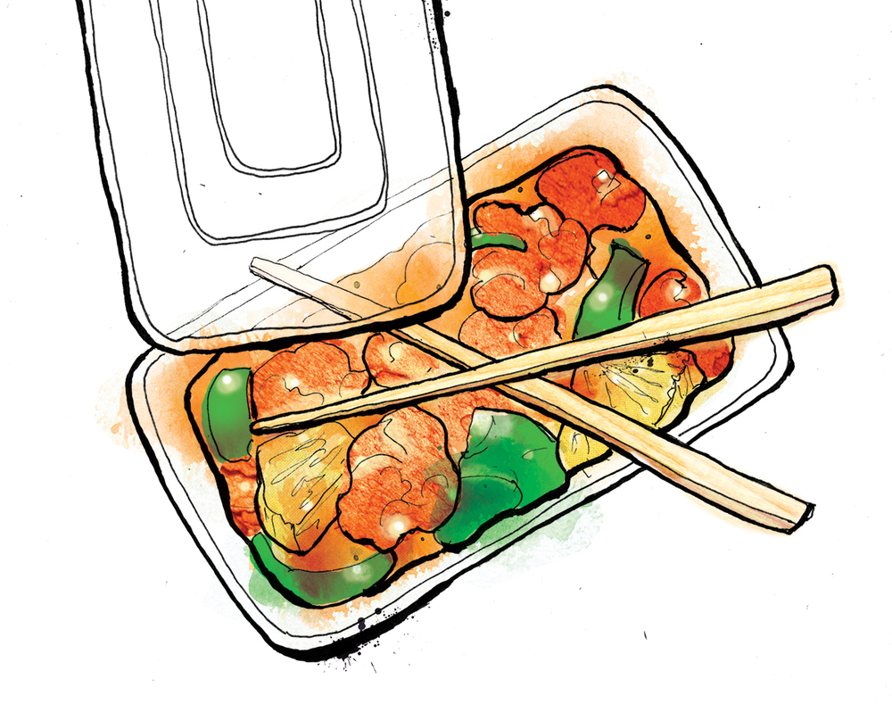 chinese takeaway illustration