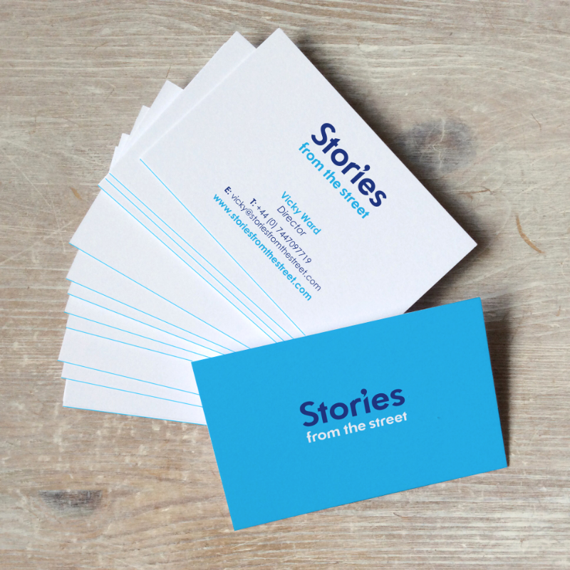 stories business card design
