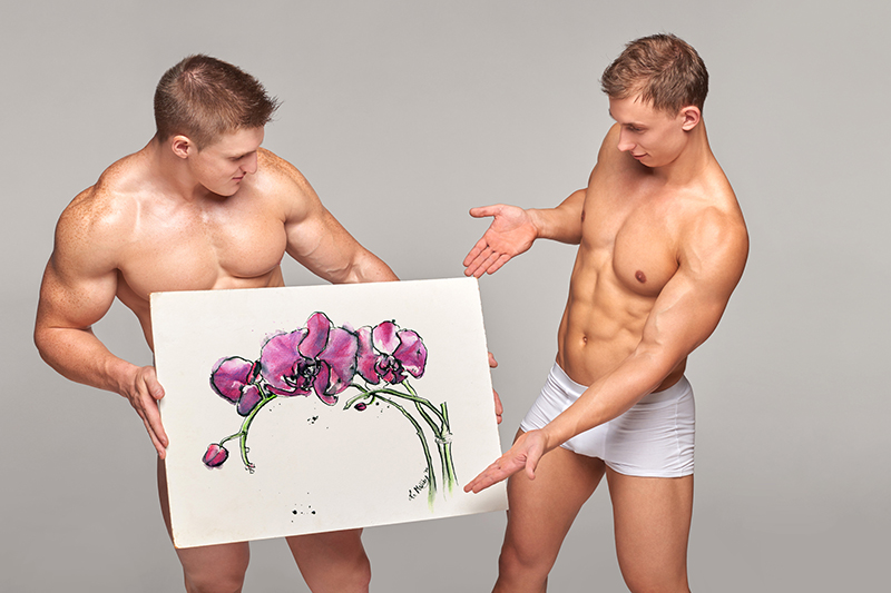 sexy men advertisng art prints