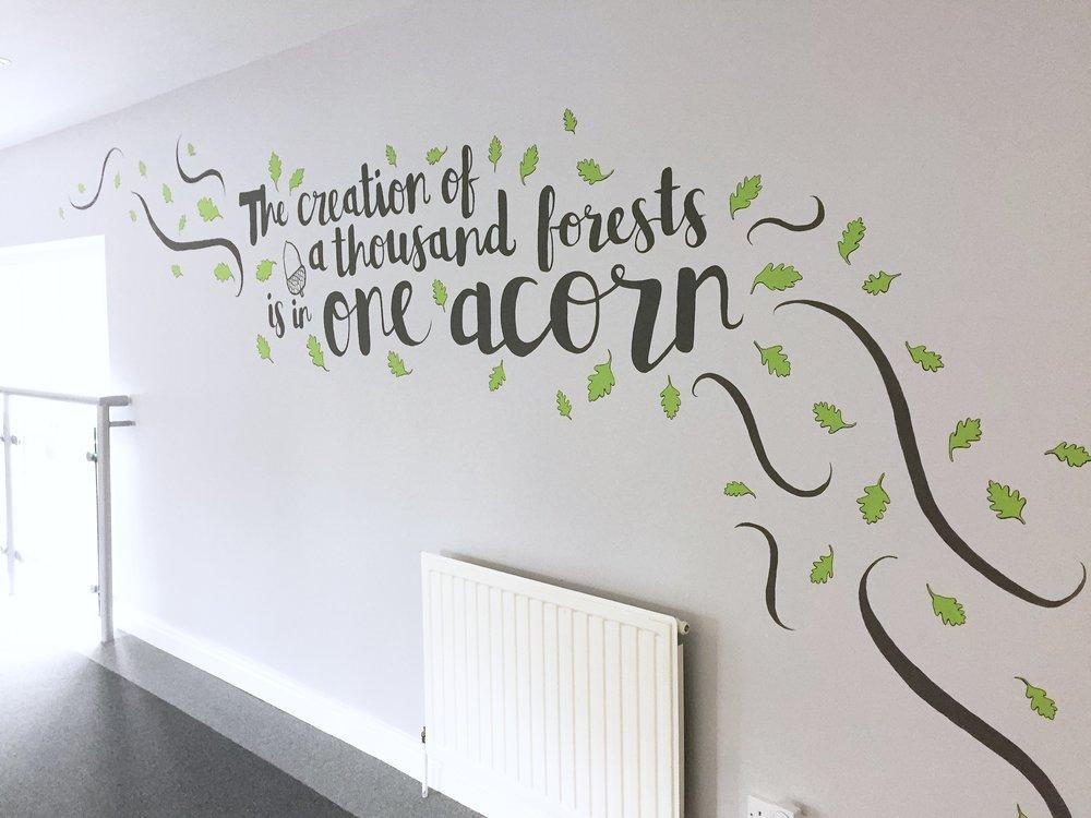 lettering mural