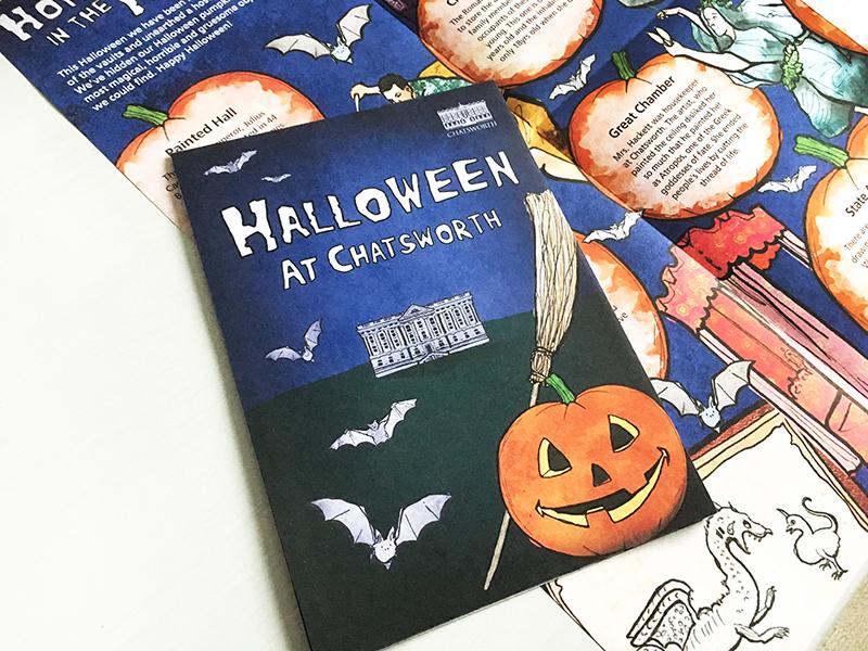 chatsworth halloween illustrated leaflet