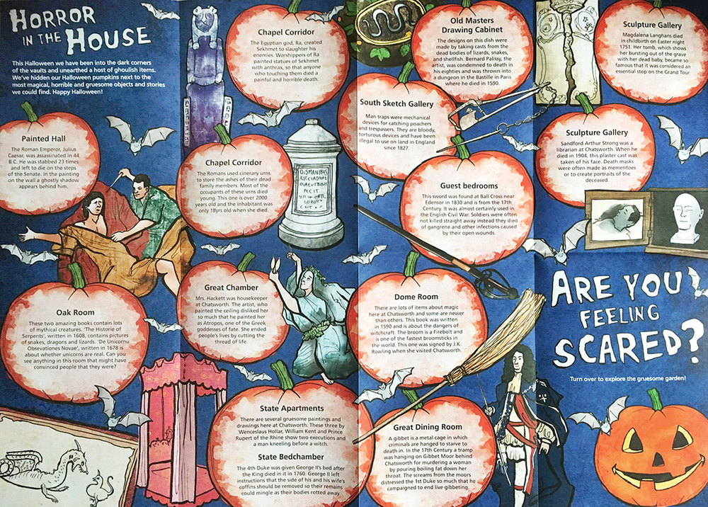 chatsworth halloween illustrations