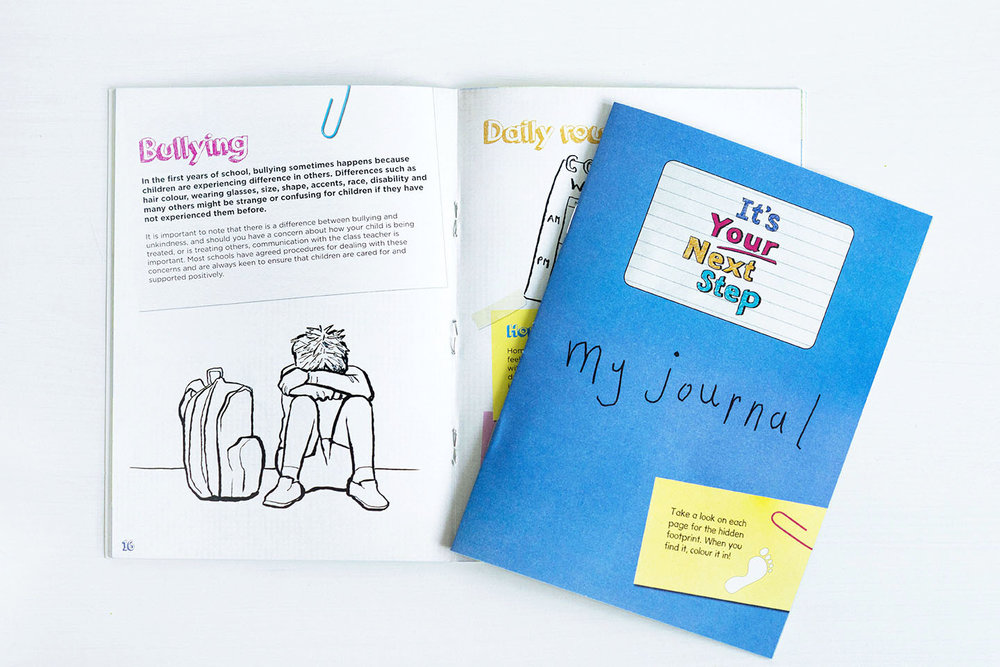 Inside the book is a pull-out journal for the child to complete with lots of fun activities inside to help them to learn more about starting school.