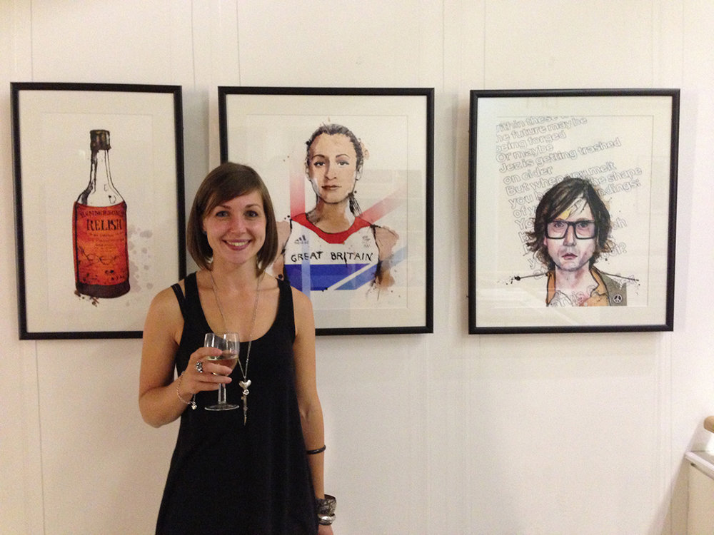 Here's me at my first exhibition. I sold every painting, Bernard. And then, I gave all the profits to  The Snowdrop Project  - a charity that helps survivors of sex trafficking. And perhaps I was highly  unprofessional  for drinking too much wine that night, but no one banged their head against a wall or called me self-entitled.