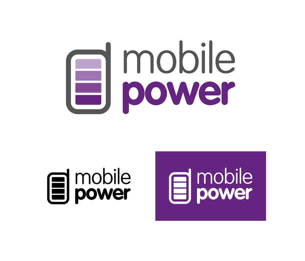 mobile power logo design