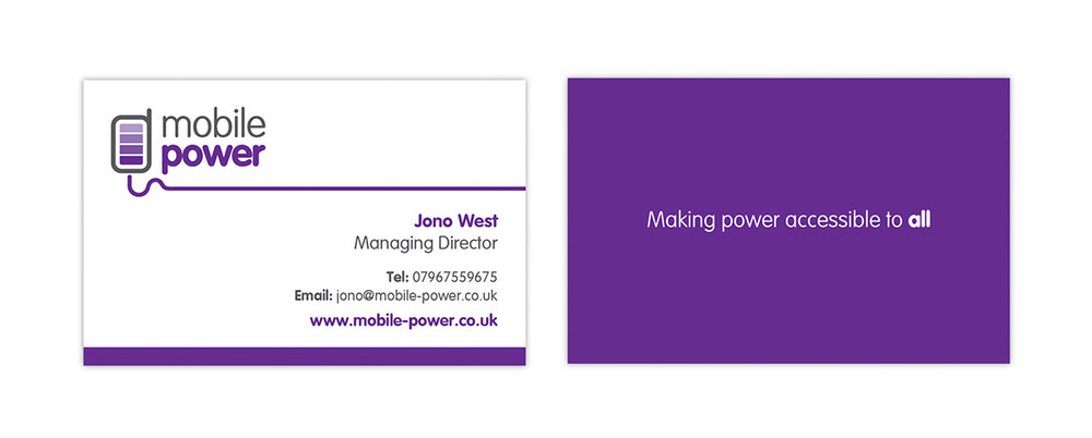 mobile power business cards