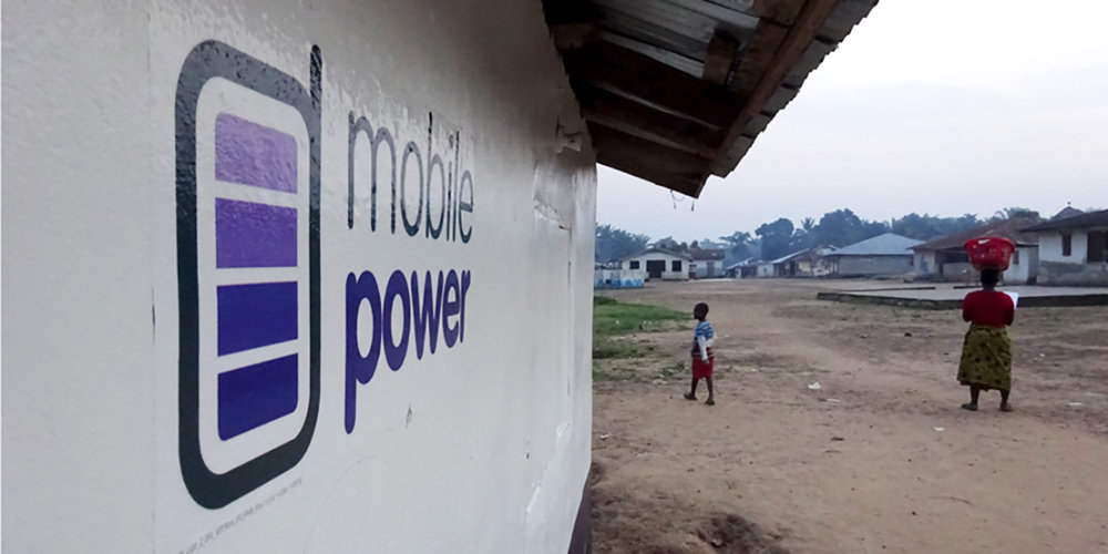 mobile power logo in situ