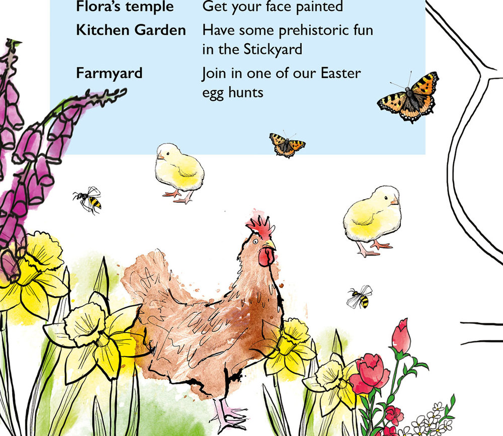 easter trail illustrations