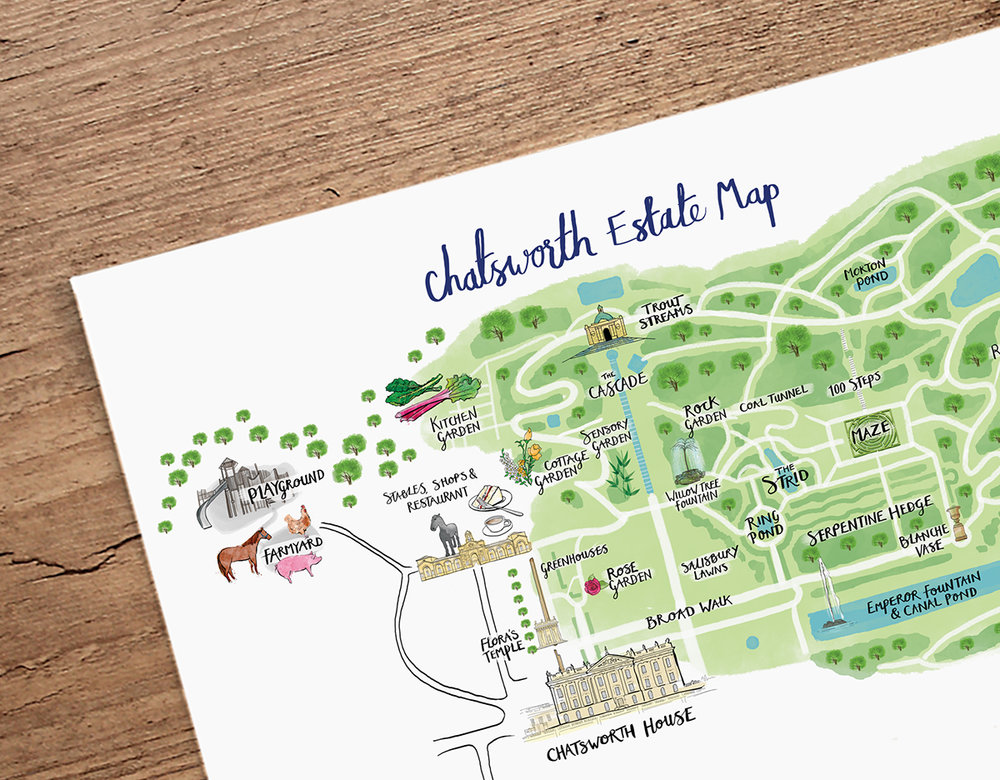 Chatsworth Estate Map Easter Trail Lisa Maltby Illustrator