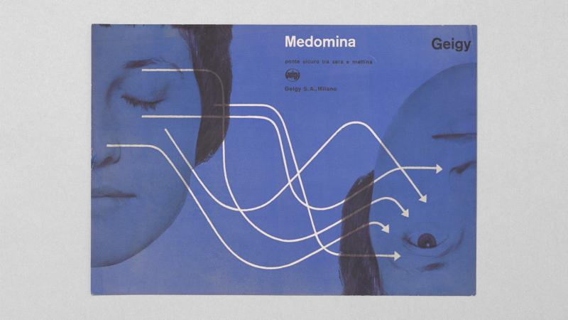Advertising pamphlet for Medomina, Geigy, c. 1960 Courtesy: Display, Graphic Design Collection (thisisdisplay.org)