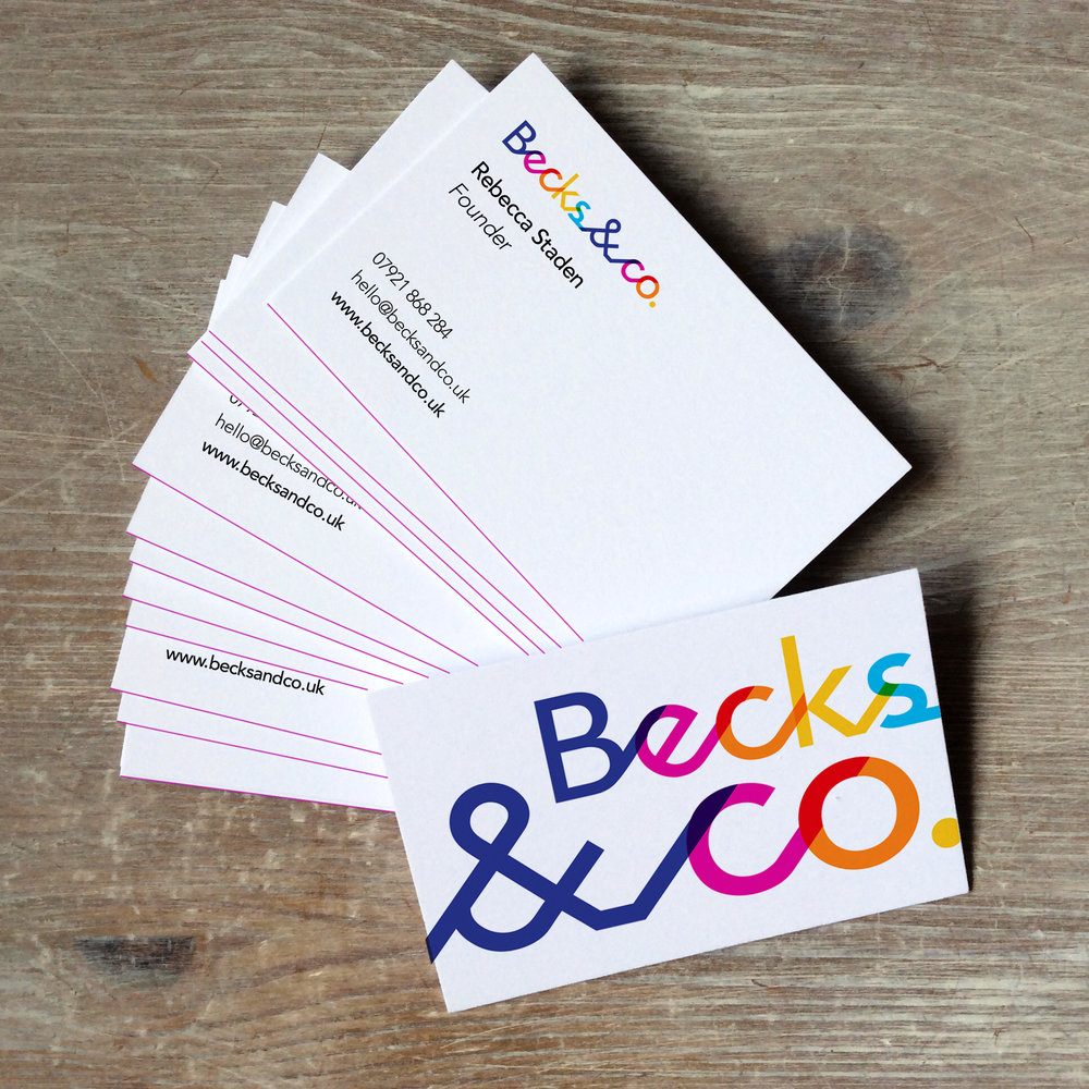 becks and co brand identity design