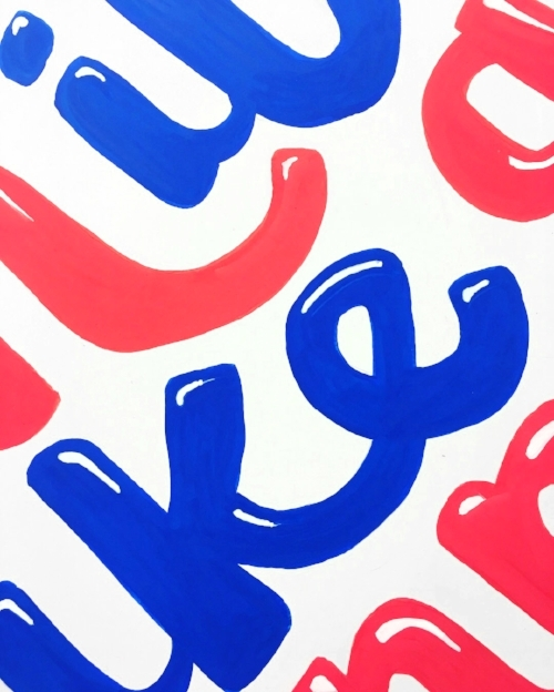 close up lettering