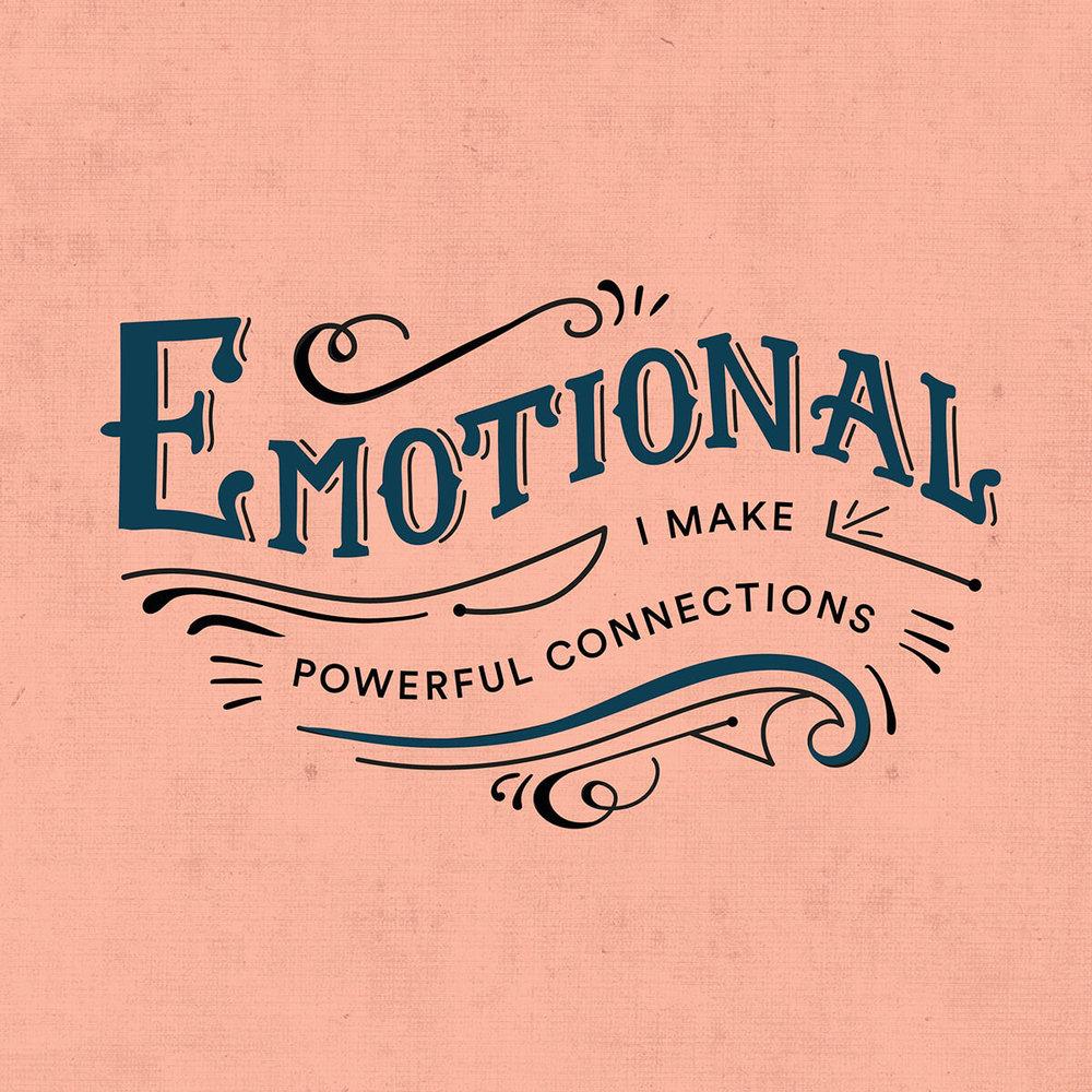 Emotional lettering