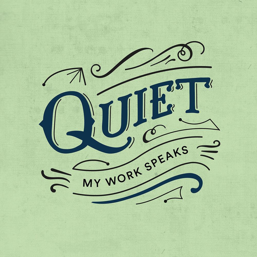 Quiet lettering