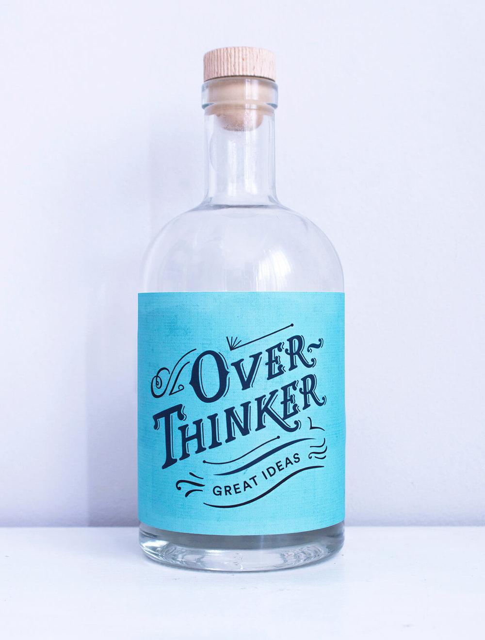 overthinker bottle