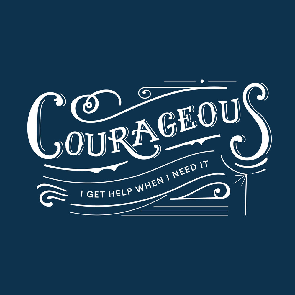 courageous lettering