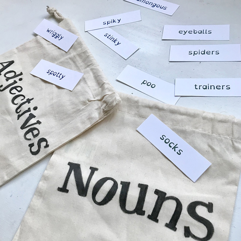 nouns and adjectives activity