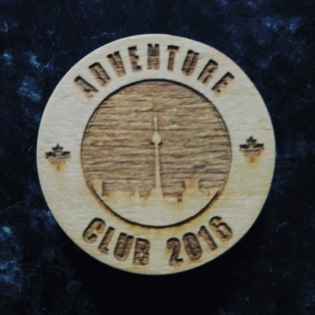 Check out these cool Adventure Club tokens! Made by @champstiles Tag or #adventureclub_org to show us your holiday break adventures to win it! #woodburning #art #adventure #contest #win