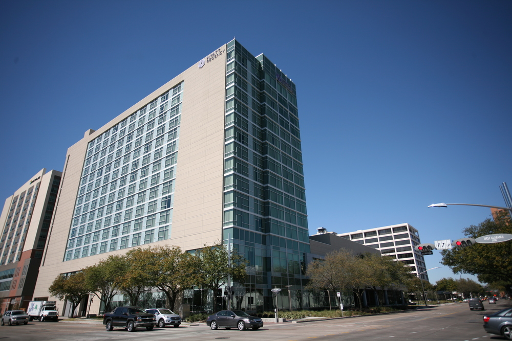 Hyatt Regency Galleria. Project designed and managed by Marco Cano working at Haynes Whaley Associates