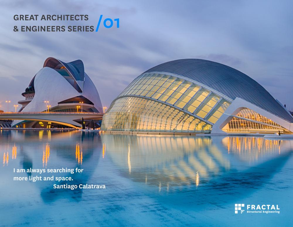Santiago Calatrava.  Poster by Marco Cano, FRACTAL