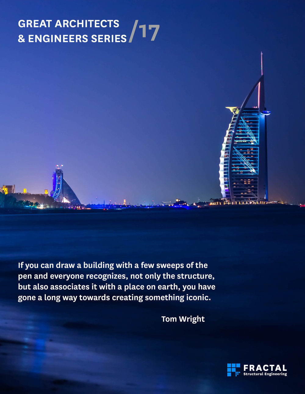 Burj AlArab by Tom Wright.  Poster by Marco Cano