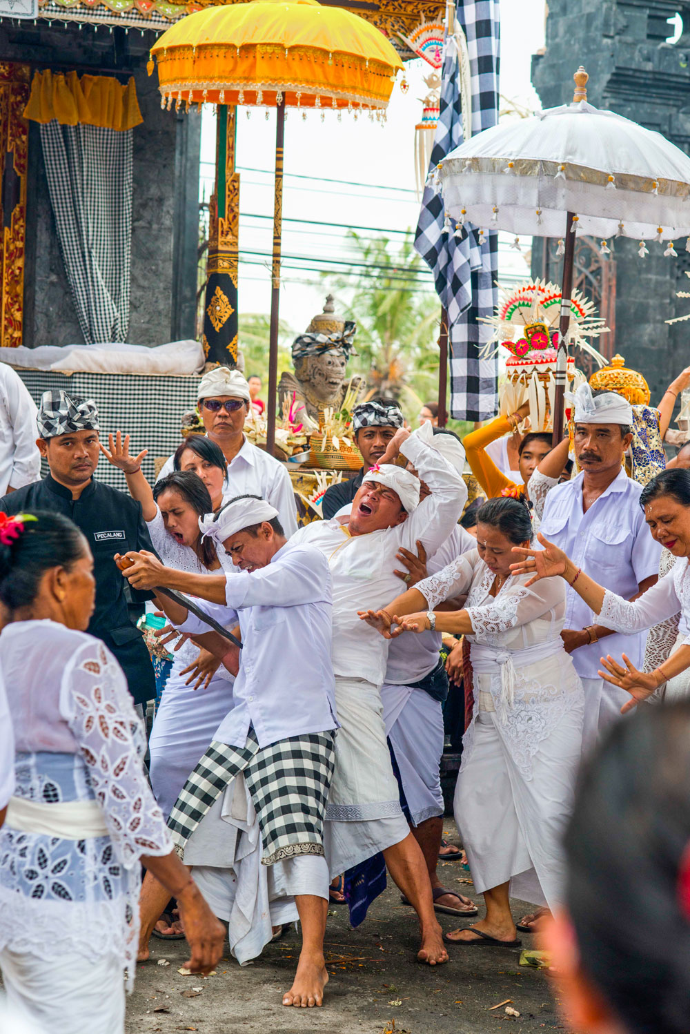 Devotees enter the state-of-trance after being possessed by spirits.