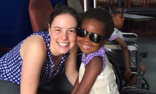 Elise with one of the FOCOS patients in Ghana
