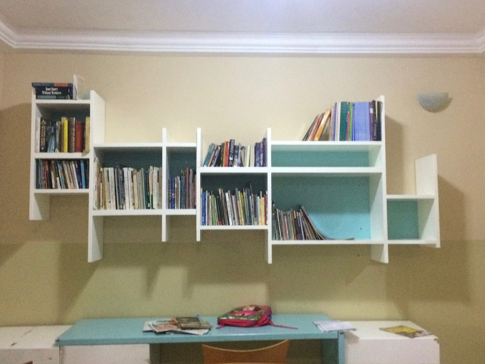 The new book shelf at JB