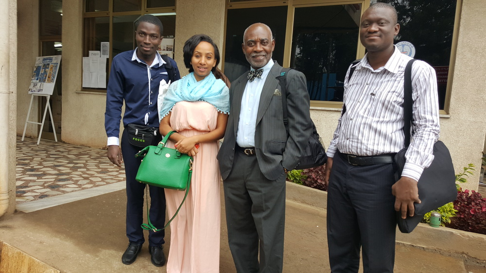FOCOS team members left to right: Henry, Bezawit, Prof. Boachie-Adjei, Dr. Yankey