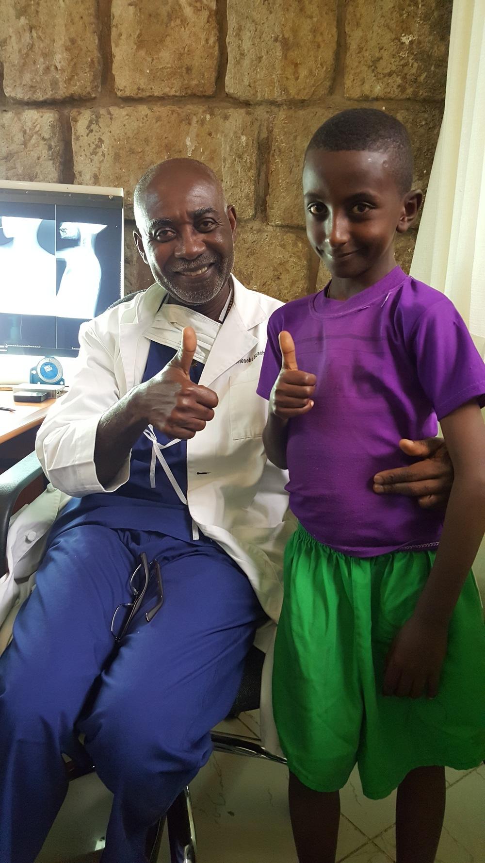 Prof. Boachie-Adjei and FOCOS patient Gabriel