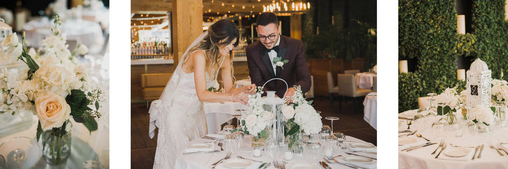 Jessica and Marco's elegant and rustic wedding decor at Ristorante Beatrice.