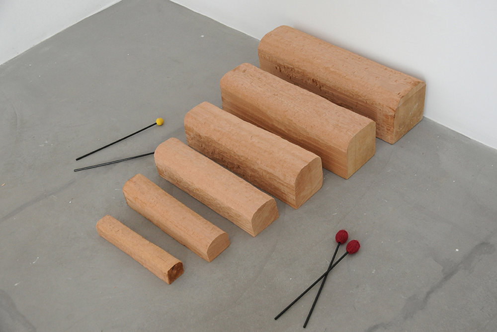 David Adamo_Untitled (xylophone)_Cedar wood and xylophne mallets_92 x 52 x 15 cm_2017_1.jpg
