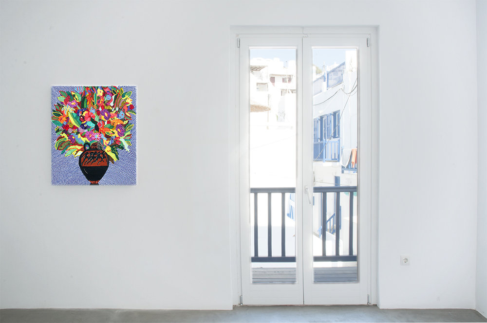 Caroline Larsen_Romance on the Islands_Terracotta Panathenaic with Flowers_installation shot_2.jpg