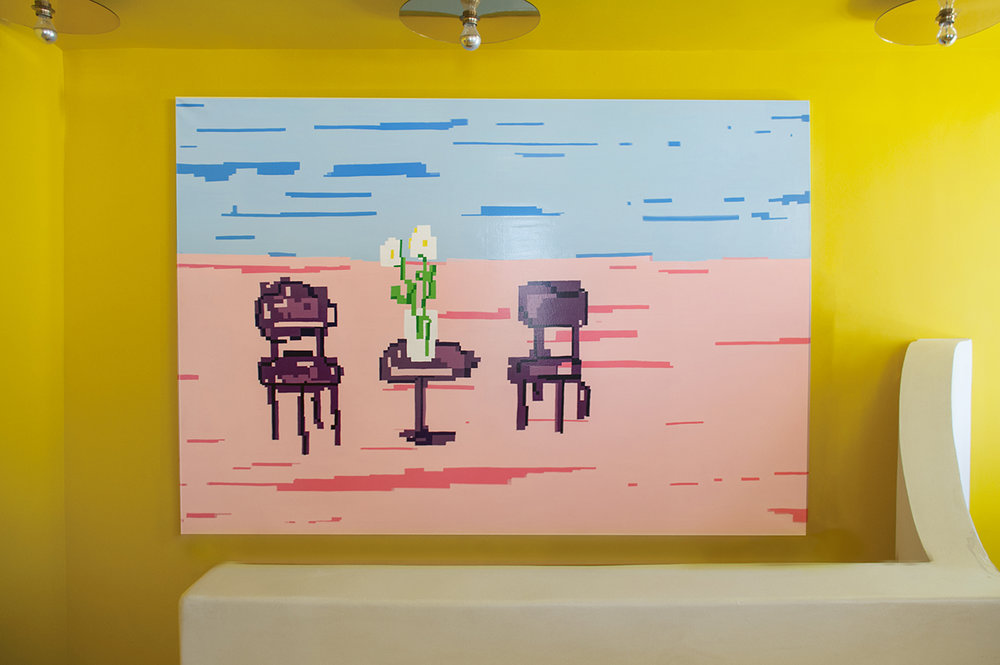 Maja Djordjevic_One Day I will Find You_Oil and enamel on canvas_220 x 150 x 3 cm_2018_installation shot_-Recovered.jpg