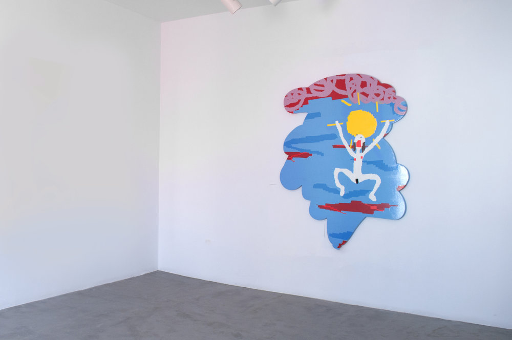 Maja Djordjevic_I Will Find You_Instead of Greeting You I'm Asking When You'll Come, I Wated for You to Fall from the Sky, at Very Same Place That Was I_installation shot.jpg