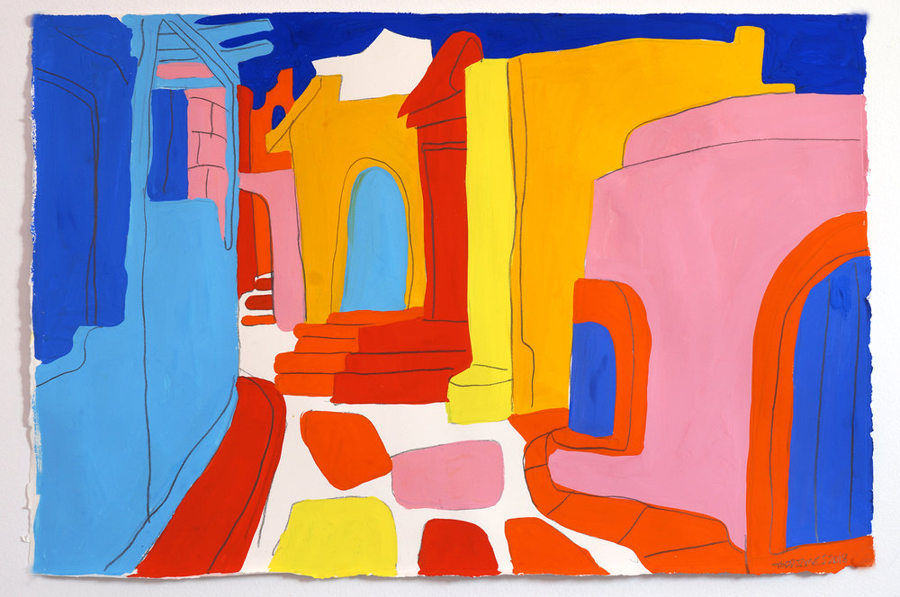 Todd James_Rainbow Alley_Gouache and graphite on paper_38x57 cm_2018.jpg