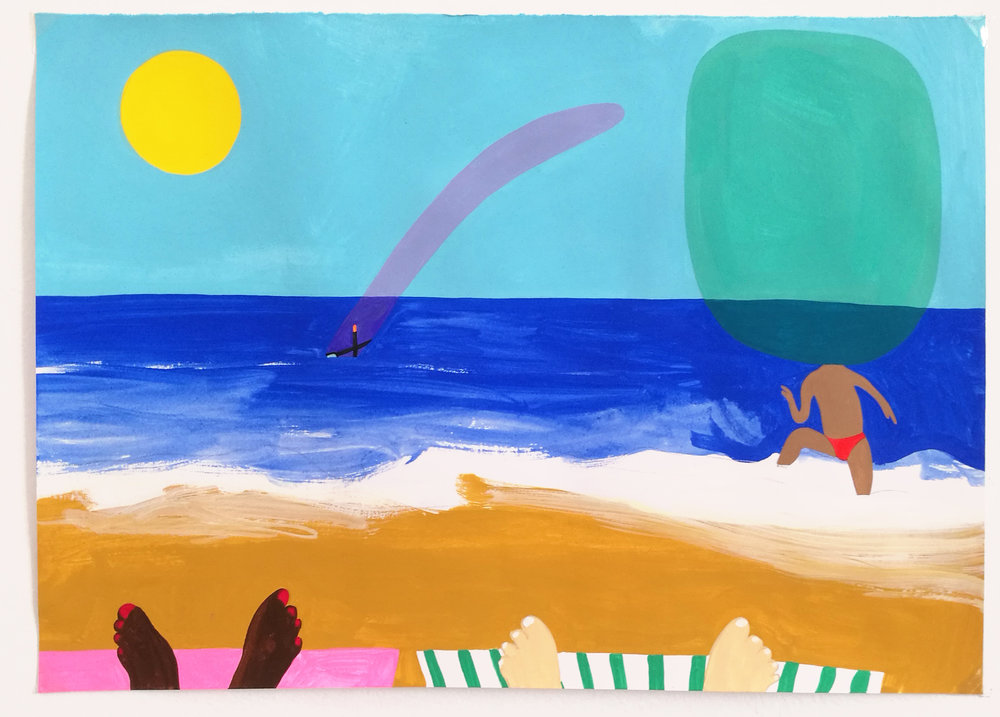 Peter McDonald_Beach_Acrylic gouache on paper_21x30cm_2018.jpg