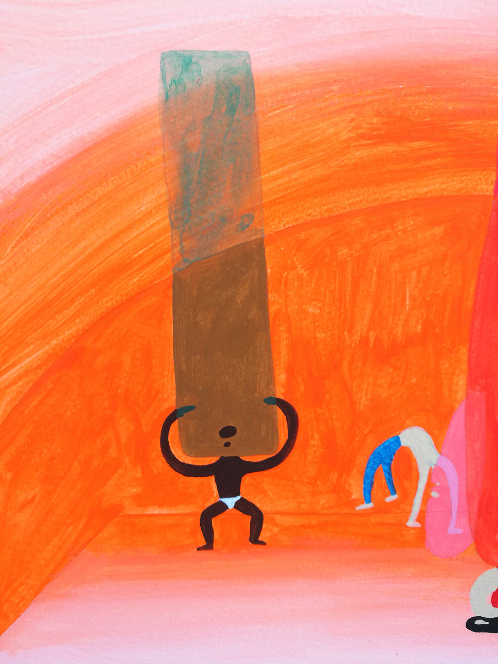 Peter McDonald_Hot Yoga_Acrylic gouache on paper_30x21cm_2013_detailshot.jpg