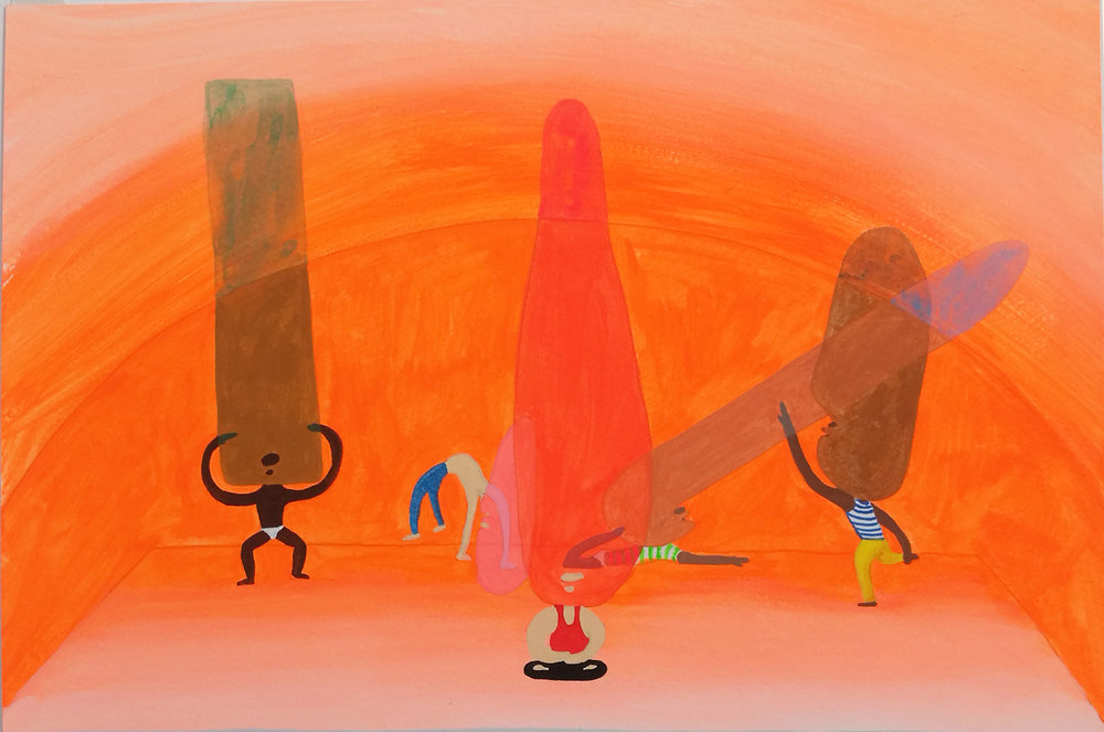 Peter McDonald_Hot Yoga_Acrylic gouache on paper_30x21cm_2013.jpg