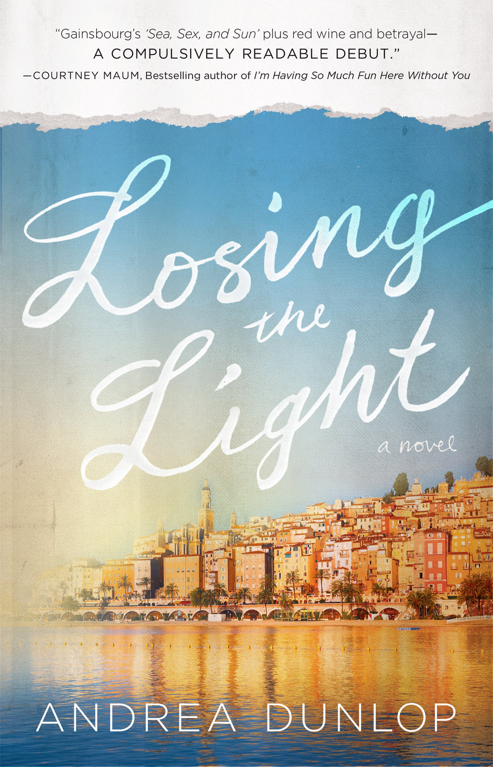 LOSING THE LIGHT  - Atria Books; February 2016 Thirty-year-old Brooke Thompson prepares to leave Manhattan and her 20's behind to move upstate with her fiancé, when she receives a friend's startling invitation to a party honoring French photographer Alex de Persaud. His name pulls her headlong into a glittering, painful past she has long tried to forget. At the party she finds that the man who was once her single-minded obsession doesn't remember her. Shattered by his apparent disavowal of their time together, Brooke still can't resist accepting his invitation for a date the following week. Catapulted back to her youth, Brooke relives the events of a decade before when she spent a year in France following a disastrous affair with a professor. There she develops a deep and complicated friendship with Sophie, a fellow American and stunning blonde whose golden girl façade hides a precarious emotional fragility. Their lives are forever changed when they meet sly, stylish French student Veronique and her impossibly sexy older cousin, Alex. The cousins draw the two girls into an irresistible world of art, money, decadence and ultimately, a disastrous love triangle that consumes them both. Of the two of them, only Brooke ever makes it home.