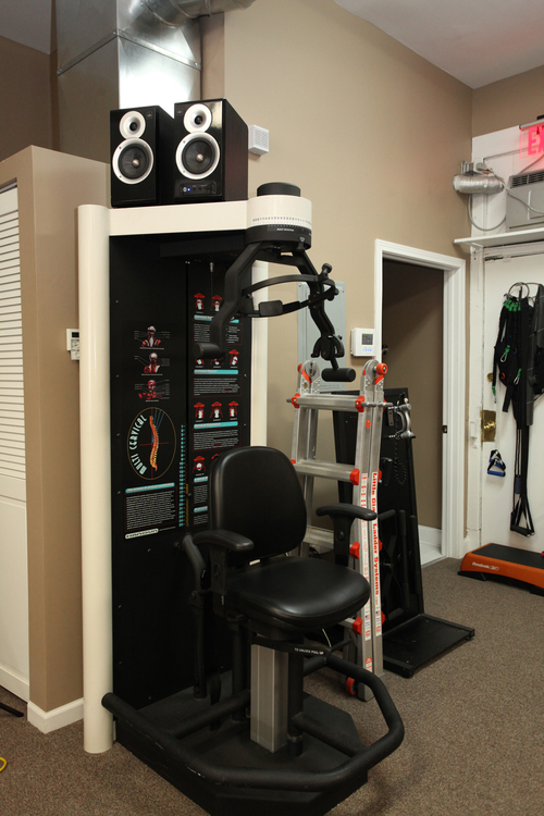 Hanoun Multi-Cervical Unit used for spinal rehabilitation and treatment.