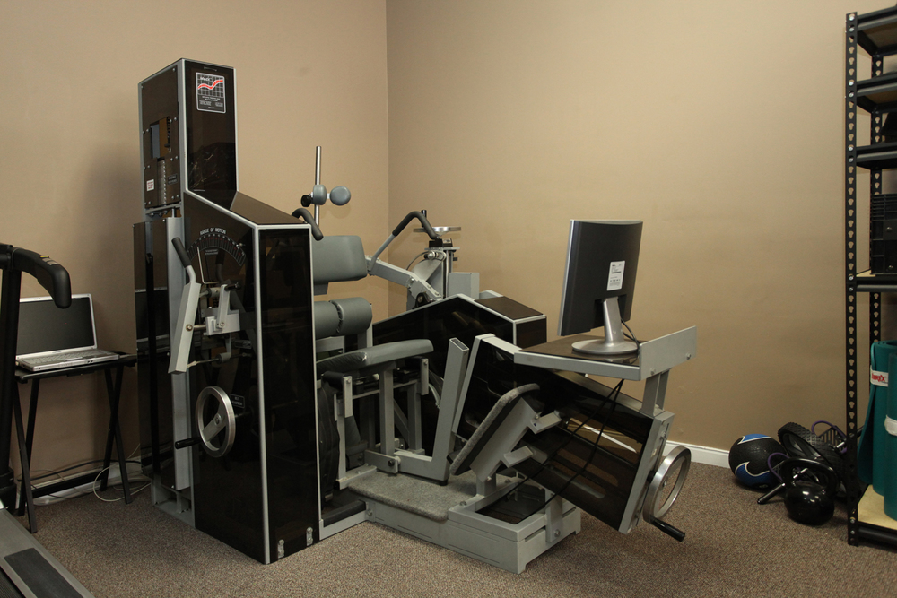 Med-X medical lumbar rehabilitation unit, one of the few in the Chicagoland area.