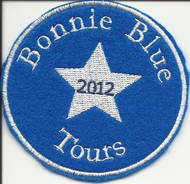 Bonnie Blue Tours logo patch